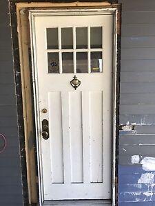 Antique exterior shaker style 3 panel door