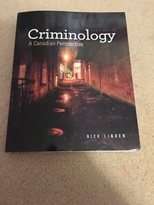Criminology - a Canadian perspective