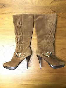 Michael Kors brown suede boots, size 6.5 BRAND NEW!