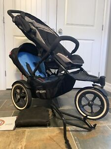 Phil & Ted's Navigator stroller w/Double Kit & Graco Adapter