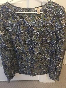 JCREW silk blouse, size L