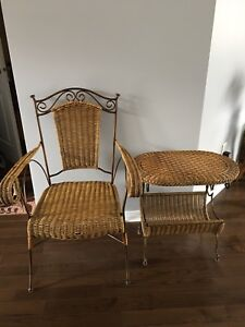 High quality Rattan table and chair