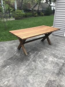 Teak outdoor dining table Canvas
