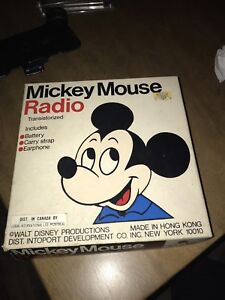 Old Mickey Mouse radio