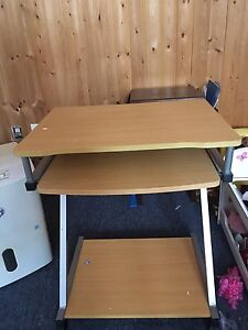 Computer desk and night stand