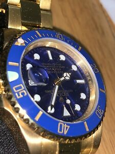 ROLEX SUBMARINER BLUE DIAL GOLD
