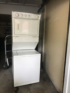 """Stacked 27""""w 72""""h Washer dryer Excellent working"""
