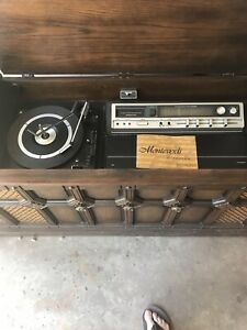Vintage antique stereo cabinet