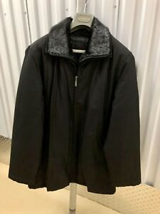 Men's winter/fall jacket with real fur otter collar
