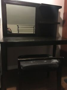 vanity and chair