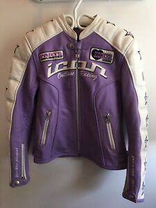 icon leather motorcycle jacket, size small