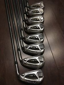 RH 2017 Taylormade M1 Irons 4-AW Reg Flex Graphite Shafts