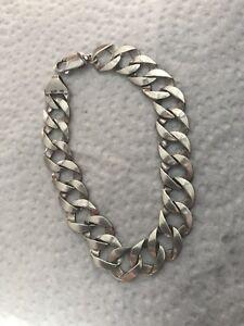10K white gold Cuban bracelet