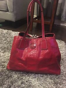 Red Authentic Coach Purse (Patent Leather)