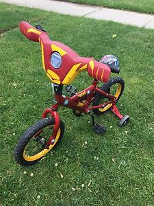 "Iron Man 14"" bike with training wheels"