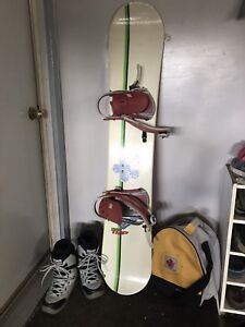 Snow Boards, Boots, Bindings and Boot Bags
