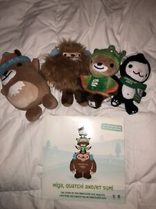 2010 limited Olympic stuffed animal and book set