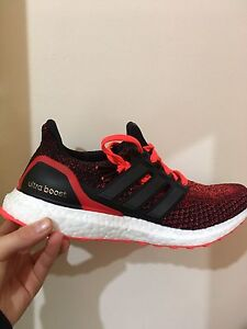 Red ultra boost