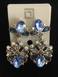 Laura Blue Sapphire Fashion Dangle Earrings
