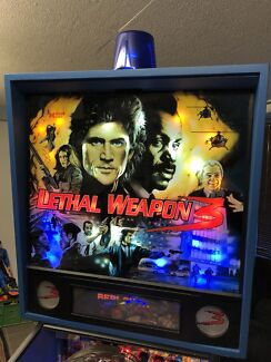 Lethal weapon 3 pinball machine by data east with LEDs & mirror blades