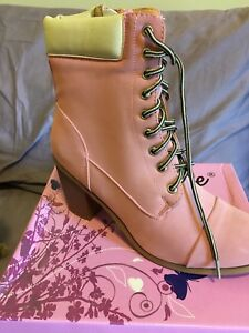 Pink OR Tan Size 10 Ankle Boots