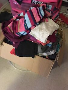 Large box of girls size 7 and 8 clothes