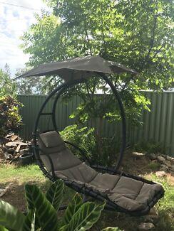 Outdoor chair lounge hanging hammock