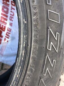 Bridgestone BLIZZACK P265/50/20 winter tires x3. $150
