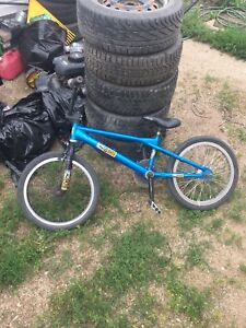 BMX with aftermarket parts added