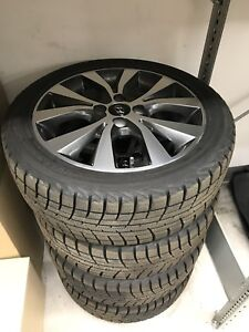Winter Tires and Alloy Wheels. Hyundai Accent