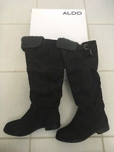 Size 7 suede boots from Aldo