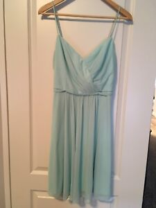Davids bridal mint  bridesmaid dress.