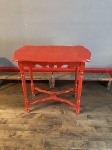 Table (desserte) - antique peinte en rouge