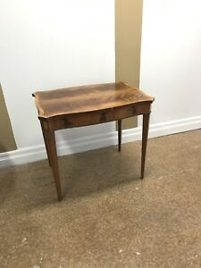 Antique side accent table