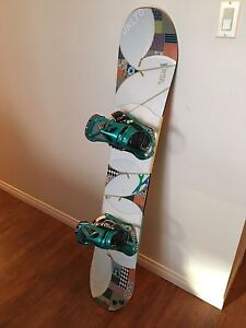 Women's Burton Troop 46 snowboard with bindings and boots