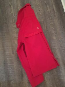 Lululemon Currant Red Lined Waterproof Jacket!