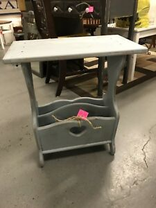 Distressed  painted Magazine rack / table