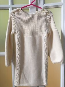 Robe maille  fille beige  3 ans Chloé