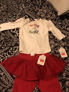 3-6m girl Christmas outfit