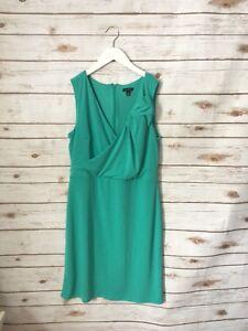 Ann Taylor Sleeveless Green Dress Size 8