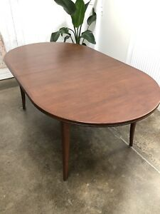 Mid Century Designer Parker Furniture Expandable Timber Dining Table