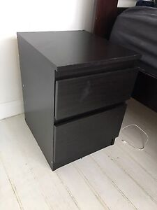 2 x IKEA Kullen Bedside Tables | black-brown | similar to malm Mosman Mosman Area Preview