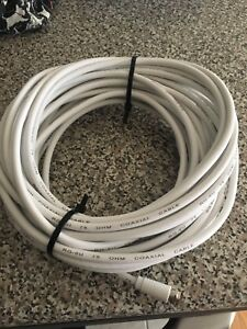 Coaxial Cable. Zenith 50-ft White 18-AWG RG6