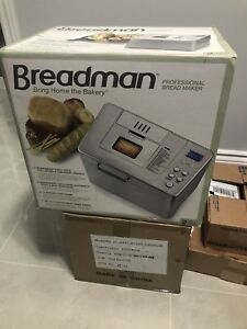 BRAND NEW BREADMAN BREAD MAKER