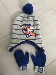 d00589e0c7a Paw Patrol winter hat and gloves. Age 4