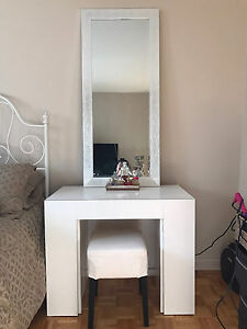 White Vanity table (mirror and stool not included)