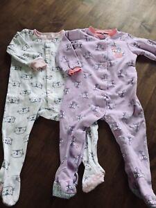 Lot de 2 pyjamas Tag et Pekkle bébé fille 18 mois