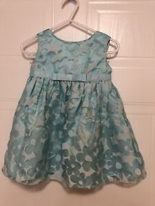 Blue mettalic dress size 18m