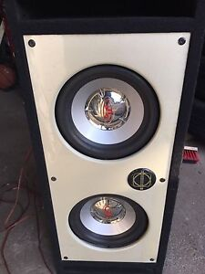 Car Subwoofer and Amp.