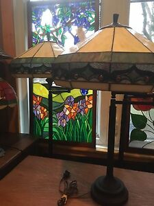 Matching Floor and Table stained glass Lamps